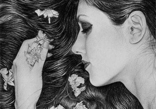 Retrato Emotivo De Chica A Lápiz